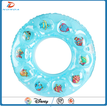 custom logo PVC inflatable sea animals swimming ring beach toys for kids