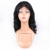 Day to day wear used human hair wigs for black women, 80% density remy hair wig full lace