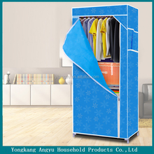 cheap price children sigle door wardrobe cabinets for home