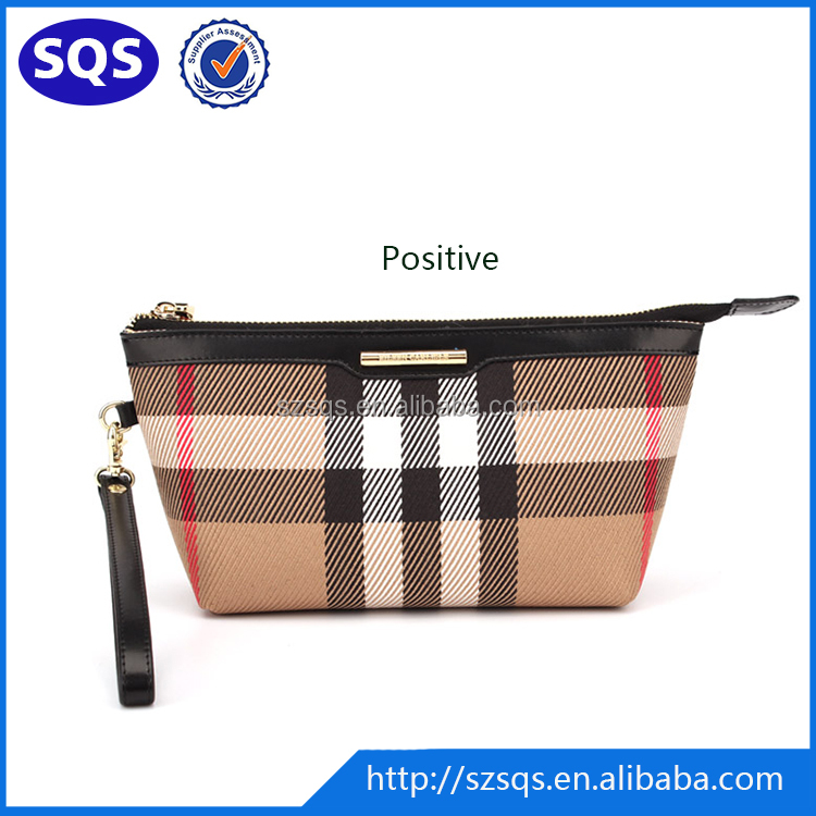 Wholesale Beauty Fashion PU Zippered Plain Makeup Bags for Cosmetic