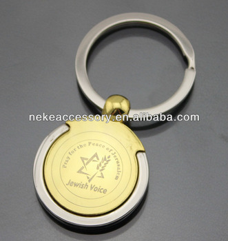 new arrival promotional golden Metal Keychain