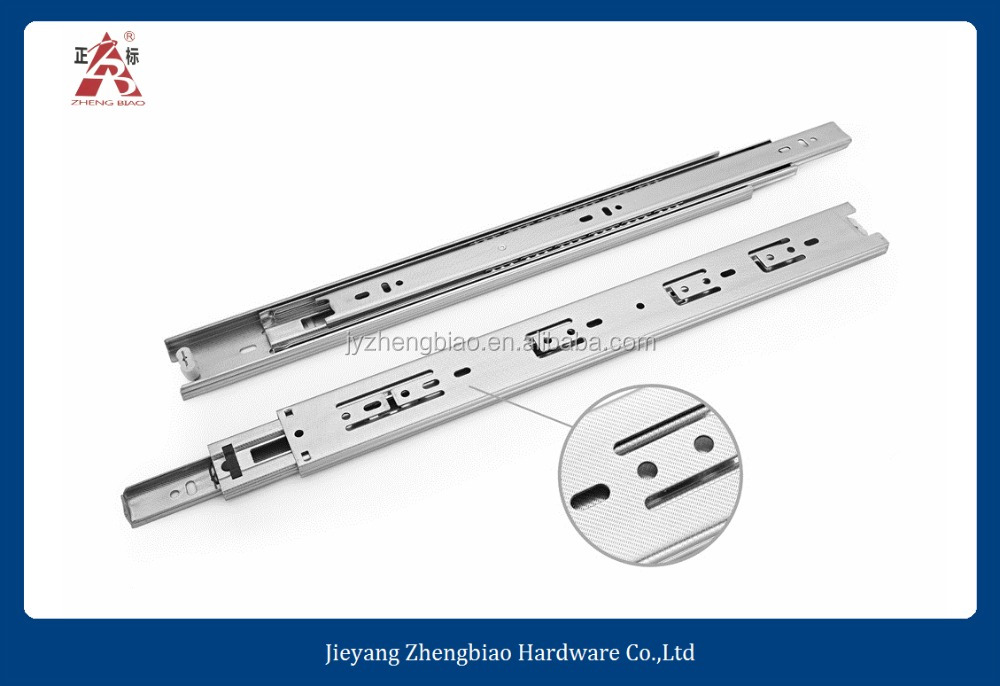 ZB-4615 best price soft close telescopic channel drawer slide