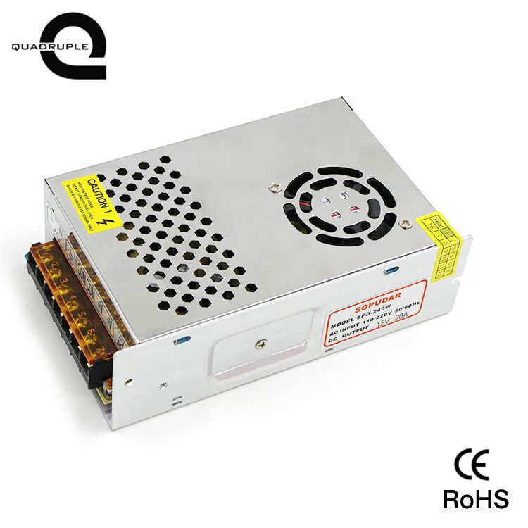 12V 20a 240w switching mode power supply for led light strip