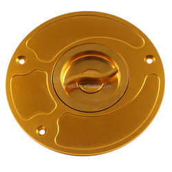 CNC Keyless Fuel Gas Cap Cover For Honda CBR 929 954 CBR600RR 2003-2011 04 Gold