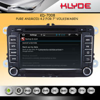"KLYDE 7"" Android 4.2.2 for vw polo car radio with Mirror Link Capacitive Touch Screen Multipoint support OBD2"