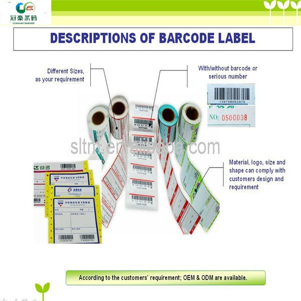 Factory price Custom Barcode Sticker Label Adhesive Sticker Label