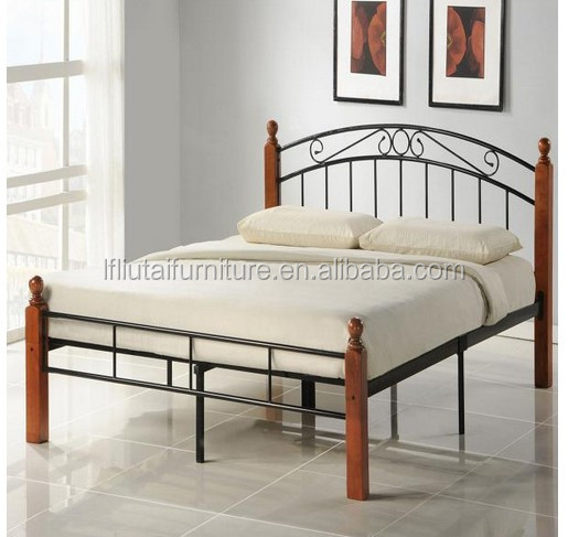 Metal And Wood Bed Frames queen size metal bed frame with wood stand - buy queen size bunk