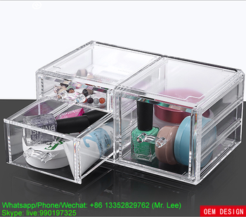 Transparent acrylic cosmetic beauty box / cosmetics holder