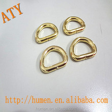 "3/4"" 1"" Gold and silver customed engraved metal d ring"