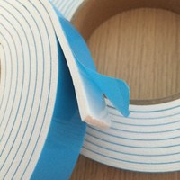 Double Sided adhesive foam tape with 1.0mm IXPE black foam and blue release film