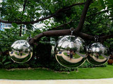 6 inch garden ornament polished stainless steel gazing ball