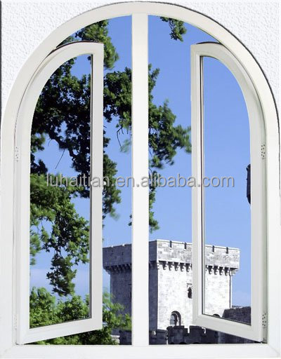 PVC casement windows decorated with grill