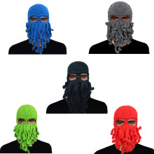 Halloween Head Barbarian oldaway Beard Crochet Octopus Mask Hats Wind Ski Mask