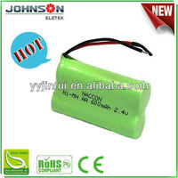 NI-MH rechargeable battery aa 2.4v 600mah nimh rechargeable battery pack 4.8v