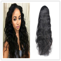 elastic band brazilian hair glueless full lace wig130% 150%180%density full lace wig with baby hair for black Women