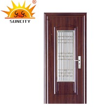 SC-S165 Modern Latest Honeycomb Steel Case Door, New Window Grill Steel Door Design