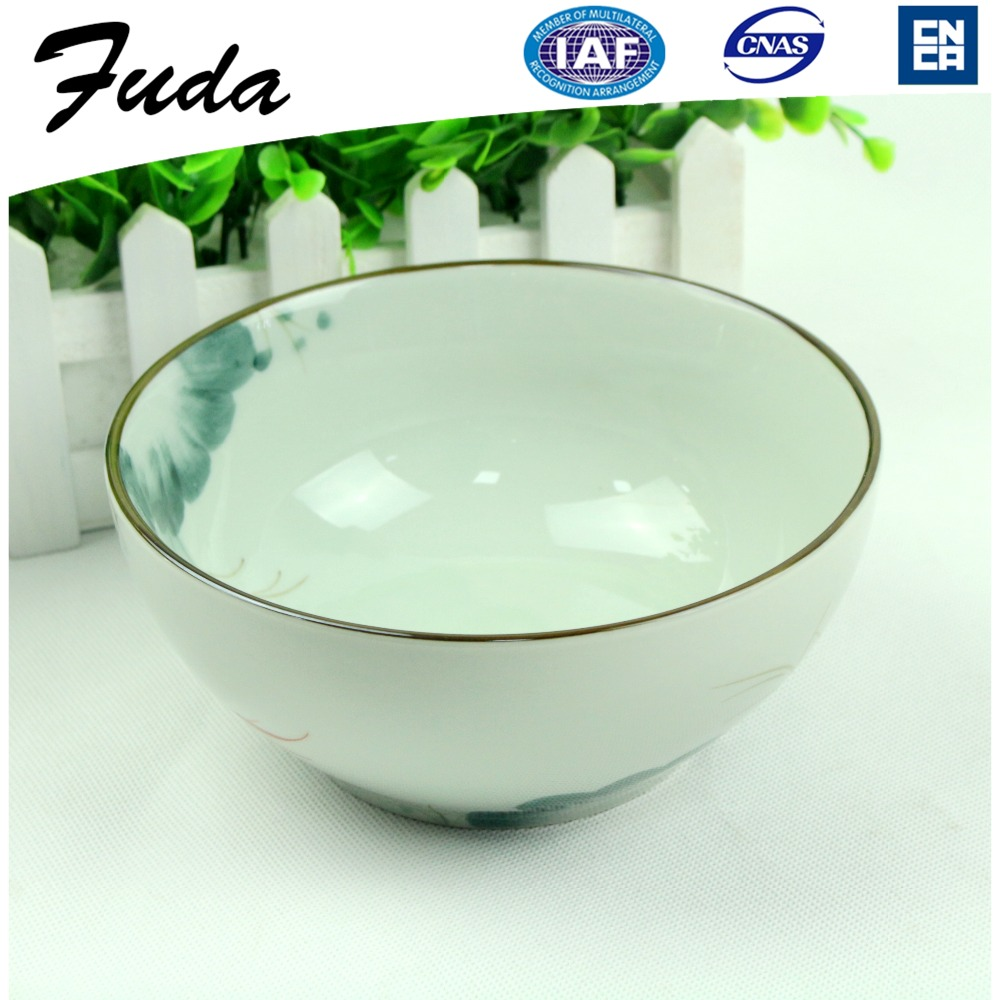 Chinese Hand Painted blue white Porcelain Soup Bowl