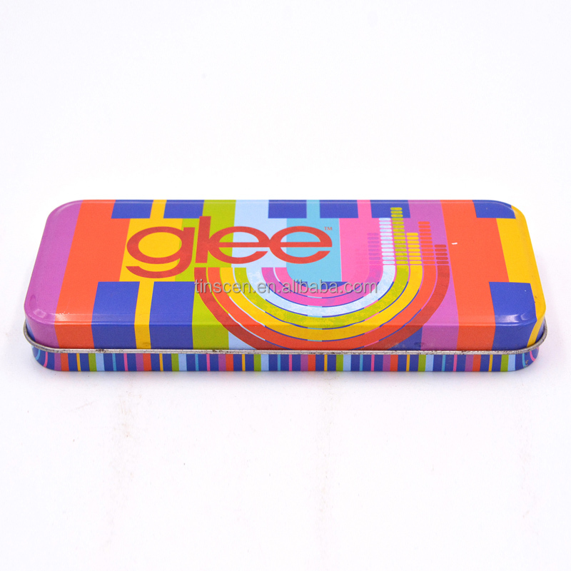 Standard wholesale tin pencil box for children