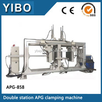 Automatic pressure gelation process APG clamping machine for making high voltage insulator or silicon gelation products
