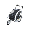 2in1 Double Child Baby Bike Trailer and Stroller - Black
