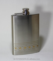 STAINLESS STEEL POCKET / HIP FLASK IN DEEP ETCHING DESIGN