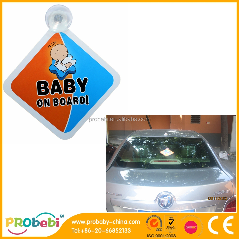 Baby on Board Sign, car sticker for windshield