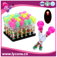 LQS032 Sweet ball shape Electro-optic wand candy candy toy, toy candy,hard candy)