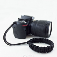 Black Camera Paracord Wrist Strap / Hand Grip for SLR / DSLR Hand Grip