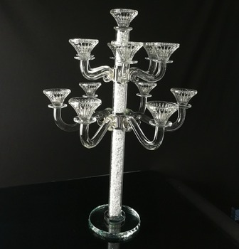 2017 New design crystal candelabra wedding centerpieces with little diamond filling