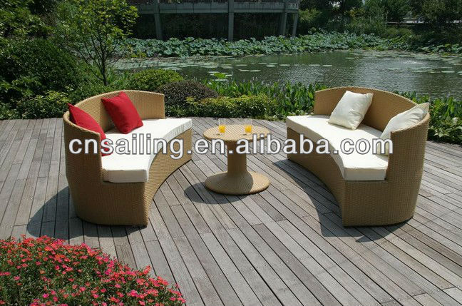 All weather rattan sofa bed