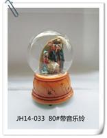 Wholesale hot toys for christmas 2015 Christ jesus mary figurine snow globes