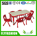 SF-10C Daycare Kids Furniture PP Plastic Children Table and Chairs Height Adjustable Table