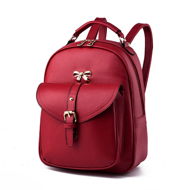 Lastest Design French Best Sale Man-made High Quality Cute School Bag For Girls Unique Candy Color Schoolbag Backpack