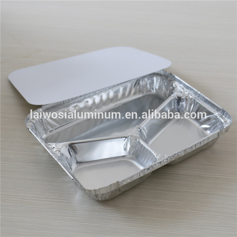 foil food container/tray/box compartment aluminium foil lunch box