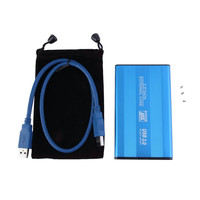 Blue USB 3.0 HDD Hard Drive External Enclosure 2.5 Inch SATA HDD Case Box