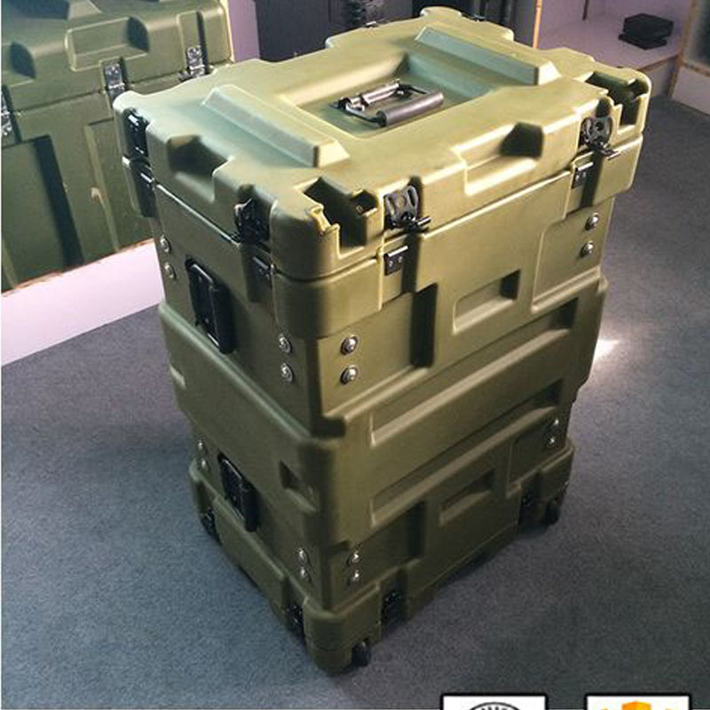 Tricases alibaba china best choice IP67 hard PP plastic case rack cases portable hard trolley tool box RU080