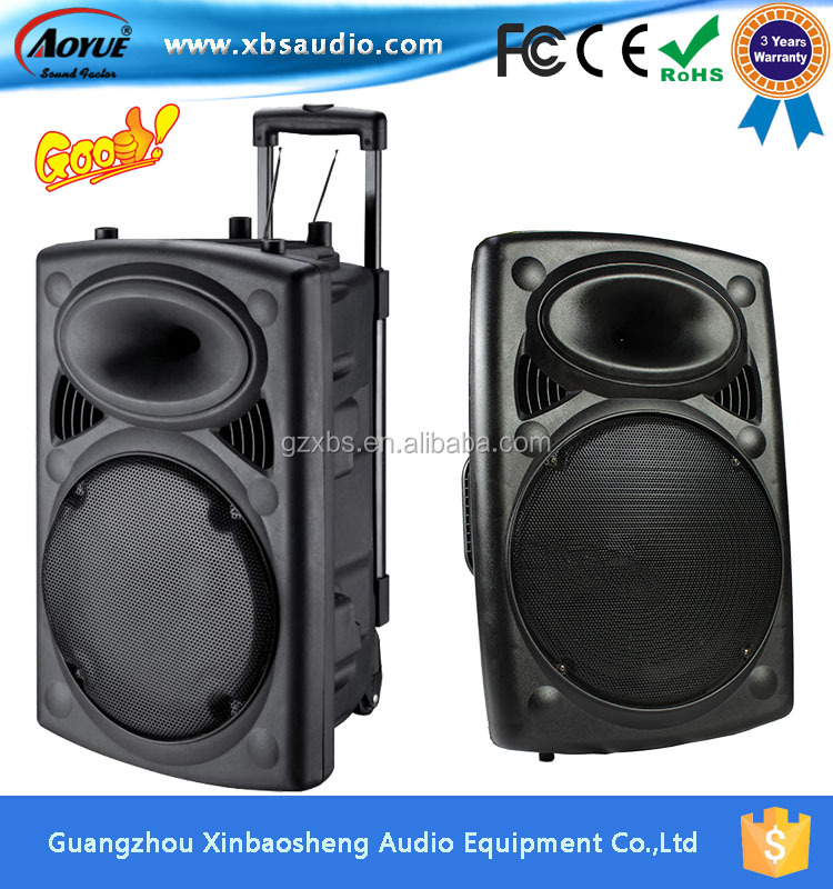 15 Inch Stage Active Speaker, Trolley Speaker S-15with Bluetooth