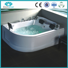 Two People Corner Drain Location Air Bubble Surfing Function Wholesale Cheap Price Comfortable Whirlpool Massage Bathtub