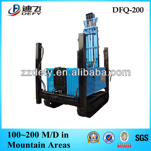 crawler all hydraulic water well drilling rigs DFQ-200 for sale