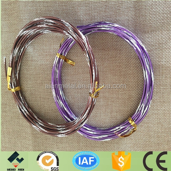 Handicraft aluminium wire with carving
