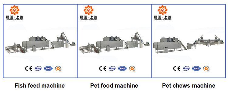 High quality full automatic cooked dog pet chew food machine