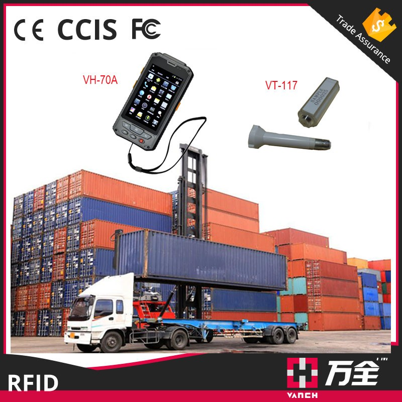 container management uhf rfid smartphone and reader