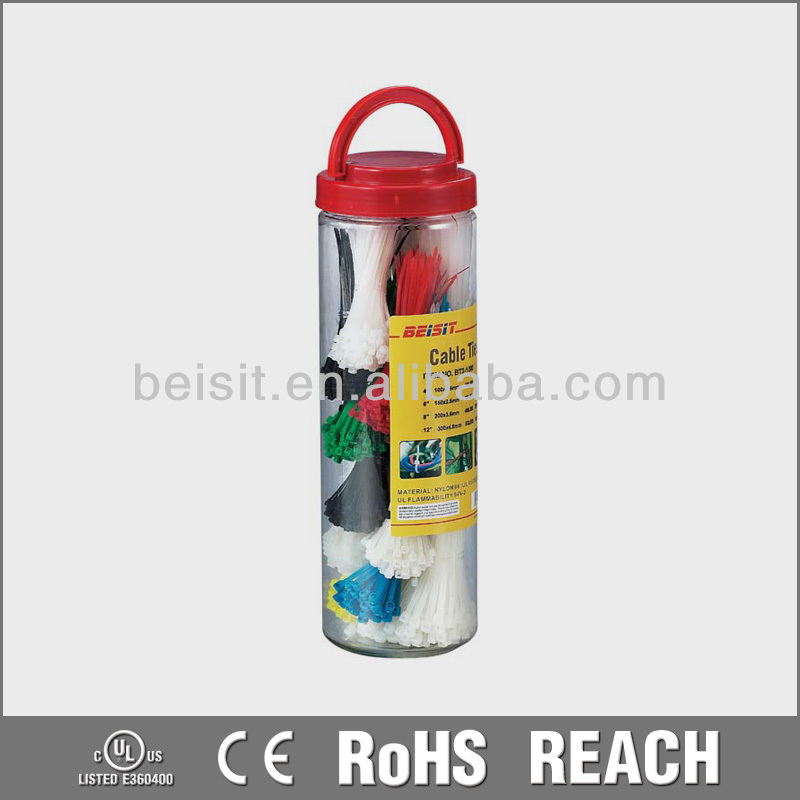 PET Canister packing Screw Mountable Cable Ties