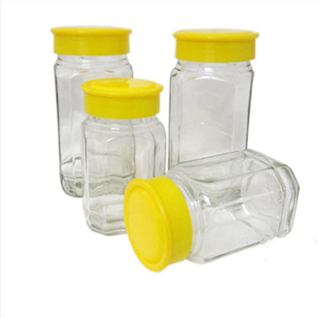 Honey Jar Glass 250ML Glass Honey Bee Storage Jar