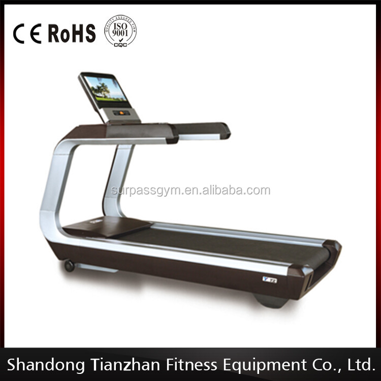 Treadmill with heart rate sensor, touch screen and TV / Cardio fitness equipment