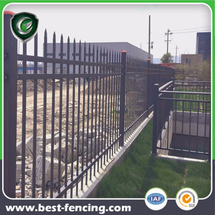 Outdoor Hot-dip Galvanizing Steel Security Fence