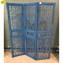 custom French country rustic folding wooden screen