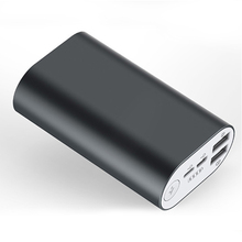 Battery charger backup dual USB inputs outputs 10000mah power banks with cable