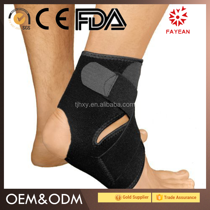2017 most popular sport support elastic ankle support neoprene waterproof ankle brace