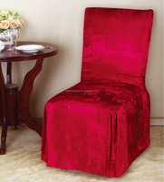 1 PC POLY-COTTON JACQUARD CHAIR COVER
